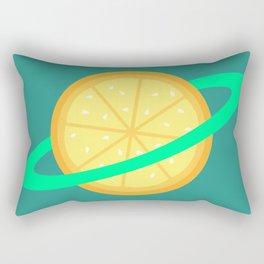 Planet Fruit: Orange | pulps of wood Rectangular Pillow