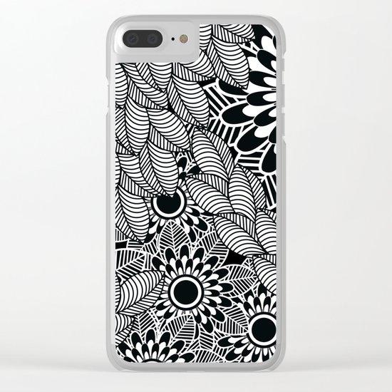 Pattern K Clear iPhone Case