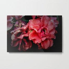 Leadlight Roses Metal Print