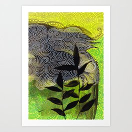 flow flower flow Art Print
