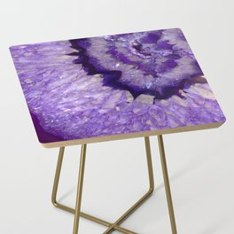Purple Crystal Side Table
