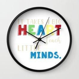 Big Heart Teach Little Minds Wall Clock