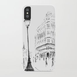 Sketch of a Street in Paris iPhone Case