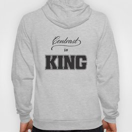 Contrast Is King on White Hoody