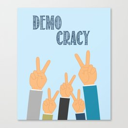 International Day of Democracy - to increase the awareness about the democracy Canvas Print