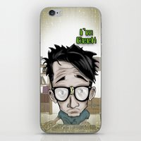 geek iPhone & iPod Skins featuring Geek by Aguamala
