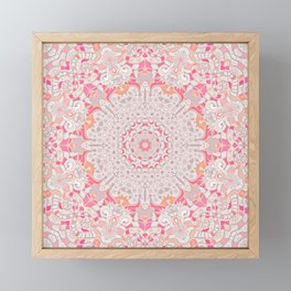 BOHO SUMMER JOURNEY MANDALA - PASTEL ROSE PINK Framed Mini Art Print