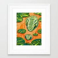 run Framed Art Prints featuring Run!!! by Devyn Park