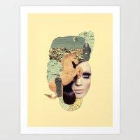 aquarius Art Prints featuring Aquarius by Francisca Pageo