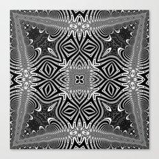 Black & White Tribal Symmetry Canvas Print