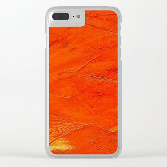 Glazed Terracotta Clear iPhone Case