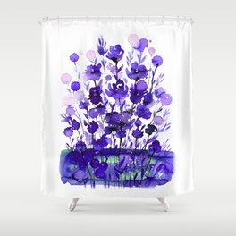 Floral Charm No.1A by Kathy Morton Stanion Shower Curtain