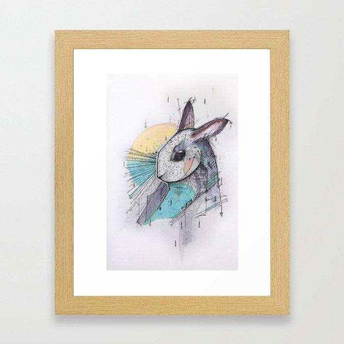 I´ VE JUST SEEN A FACE Framed Art Print