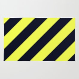 Black and Yellow Diagonal Stripes Rug