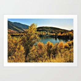 Fall Lake View Art Print