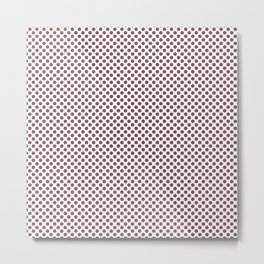 Crushed Berry Polka Dots Metal Print