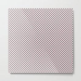 Crushed Berry Polka Dots Metal Print