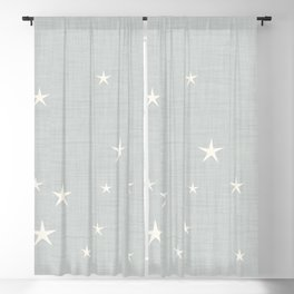 Grey star with fabric texture - narwhal collection Blackout Curtain