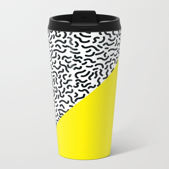 Pop Art Pattern 2 Metal Travel Mug
