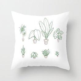 Plants family 1  Throw Pillow