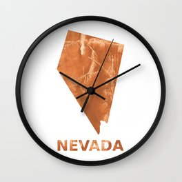 Nevada map outline Peru hand-drawn wash drawing Wall Clock