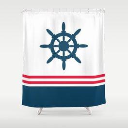 Sailing wheel Shower Curtain