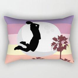 Slam dunk at Miami beach Rectangular Pillow