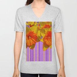 Daffodils Eye Candy Pattern Art Unisex V-Neck