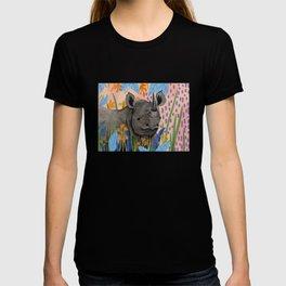 BLACK RHINO illustration T-shirt
