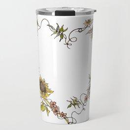 Flower Heart Travel Mug