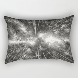Bamboo Forest (Black and white) Rectangular Pillow