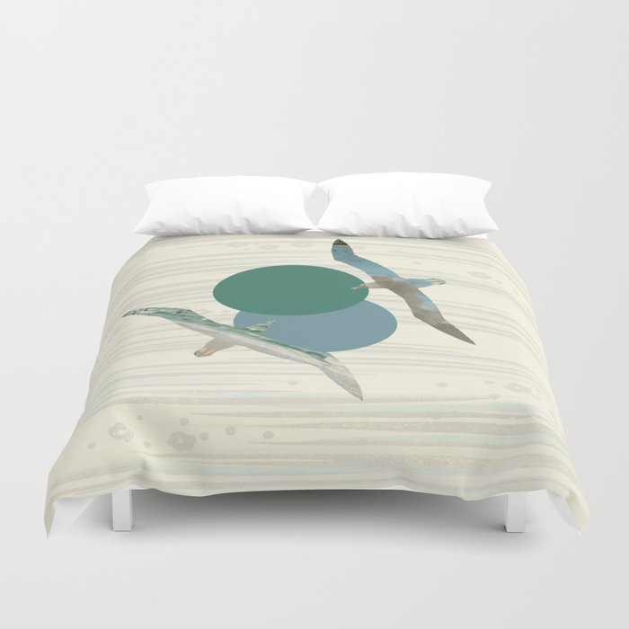 Seagull Polka Duvet Cover