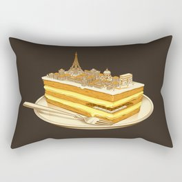 Hungry for Travels: Slice of Paris Rectangular Pillow