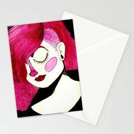 magenta marisol Stationery Cards