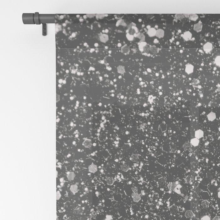 Silver Gray Glitter #1 #shiny #decor #art #society6 Sheer Curtain