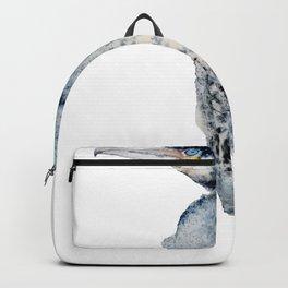 Watercolor Cormorant Painting Backpack