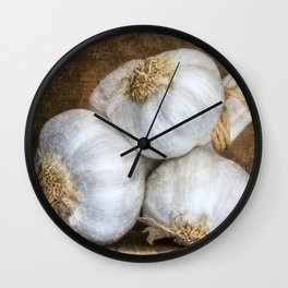 Garlic Bulbs Wall Clock
