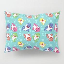 Blue Baby Shark Colorful Family Doo doo Pattern Pillow Sham