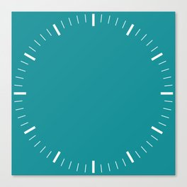 Turquoise Clock Canvas Print