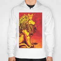 lion king Hoodies featuring Lion King by RICHMOND ART STUDIO