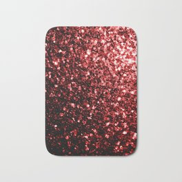 Beautiful Glamour Red Glitter sparkles Bath Mat