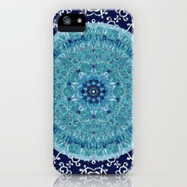 Boho Vine Leaf Mandala iPhone Case