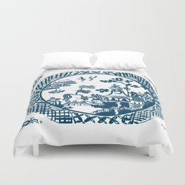 Classic Blue Willow Duvet Cover