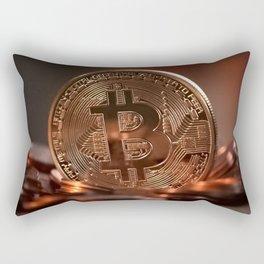 BitCoin coin Rectangular Pillow