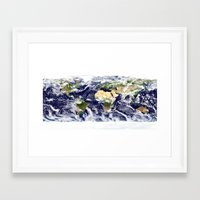 planet Framed Art Prints featuring PLANET by Planet Prints