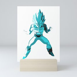 God Vegeta super saiyan ultimate form  ultra instinct Mini Art Print
