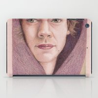 harry styles iPad Cases featuring Harry Styles in Purple by Jen Eva
