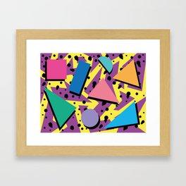 Memphis Pattern 21 - 80s / 90s Retro Framed Art Print