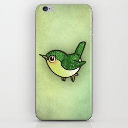 Cute Green Bird iPhone Skin