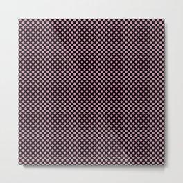 Black and Orchid Smoke Polka Dots Metal Print